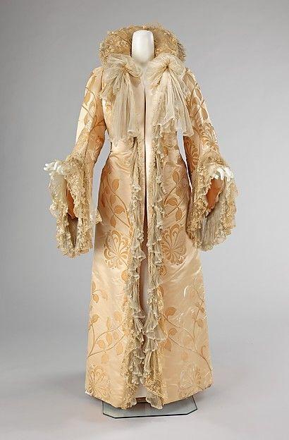 Silk evening coat, French, ca. 1902, Jean-Philippe Worth