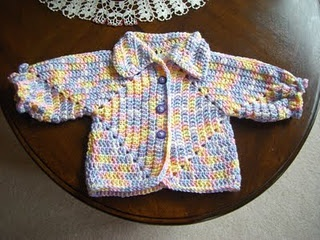 Hexagon Sweater Revisited free crochet pattern