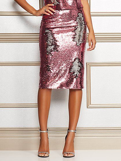 dbd4b13b1b45 Kat Pink Sequin Skirt - Eva Mendes Collection in 2019 | Style I want ...