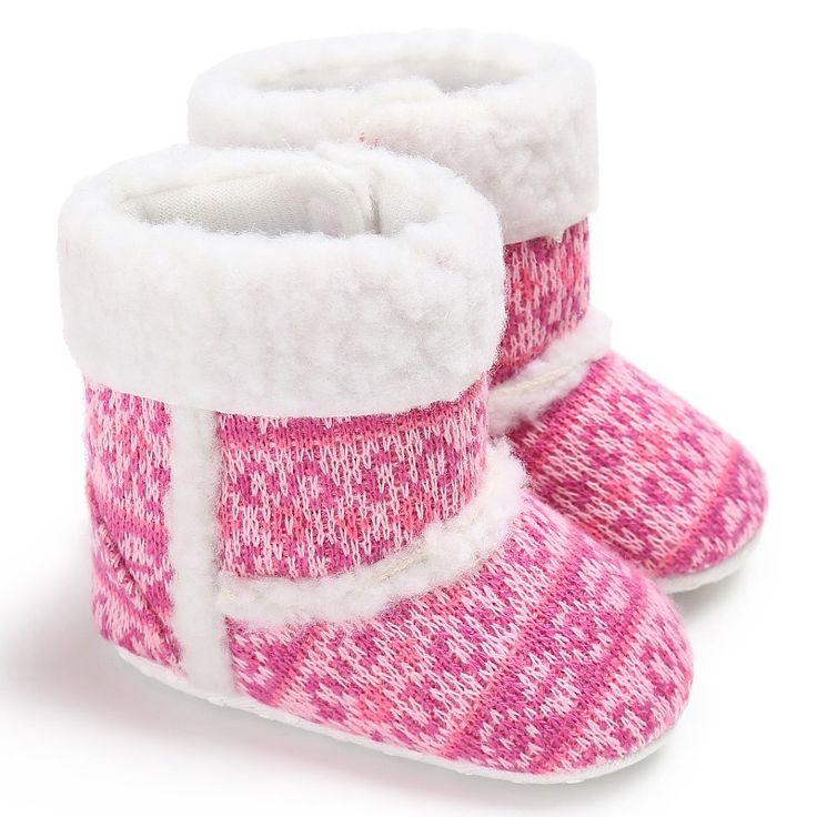 Bébé Tout nourrisson Fille Bottes de neige molle Sole prewalker Crib Chaussures BRUN 11-12-13 cm zIjXo