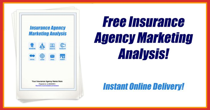 Get Your Free Online Insurance Agency Marketing Analysis Find out what's missing from your marketing plan and learn how to fix it right now! Take 5 minutes to answer questions about your agency and get an instant 15-30 page marketing analysis...