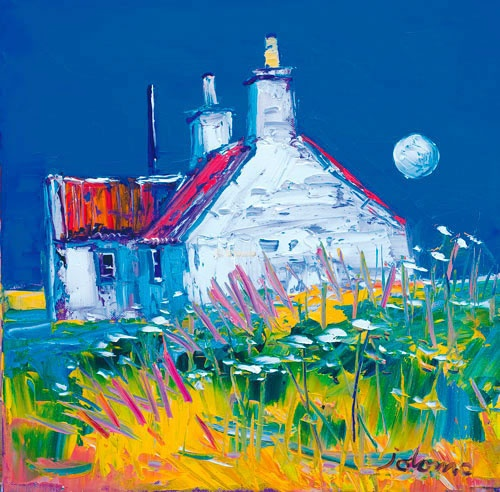 Moonrise, Isle of Tiree by John Lowrie Morrison: one of the most popular Scottish painters alive today