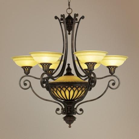 "Stirling Castle Collection 36"" Wide Seven-Light Chandelier - #62922   LampsPlus.com"