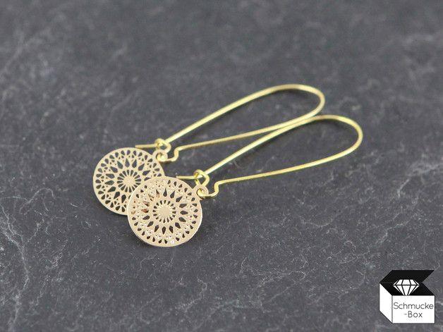 Ohrhänger - ♥ Filigrane Boho - Ohrhänger goldfarben - ein Designerstück von…