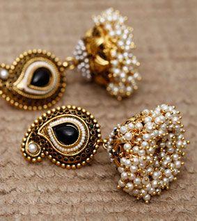 Pearl Embellished Jhumkas