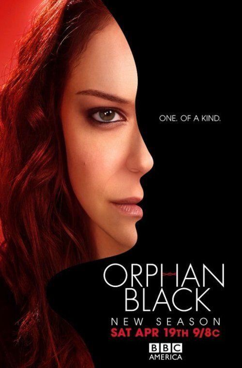Offizielles Poster zur zweiten Staffel von Orphan Black. Darauf ist Hauptdarstellerin Tatiana Maslany in ihrer Rolle als Sarah zu sehen.