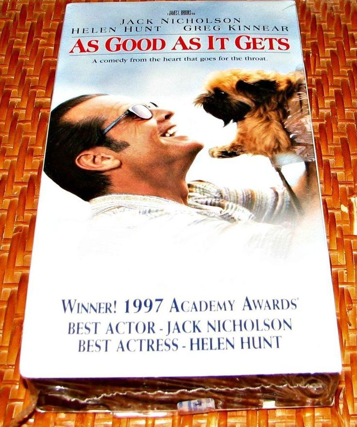 As Good as It Gets  VHS 1998 CC  NEW! Sealed! Jack Nicholson,Helen Hunt PG-13