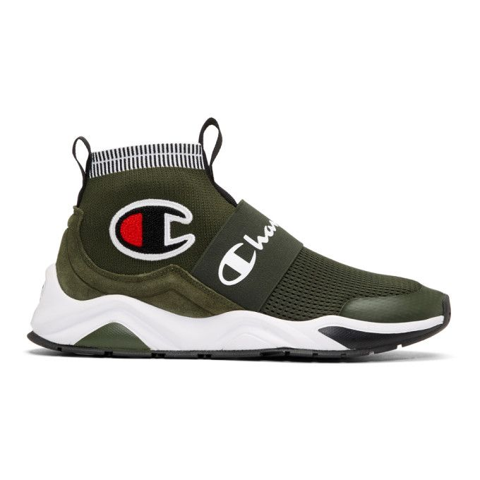 4d47968cca18a CHAMPION Green Rally Pro High-Top Sneakers.  champion  shoes ...