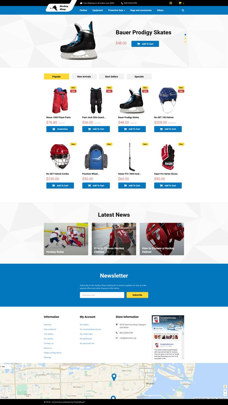 Hockey Shop PrestaShop Theme #sport