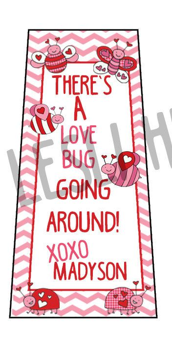 There's a Love Bug Going Around Printable label for 1oz Bath and Body Works Hand Sanitizer Bottles