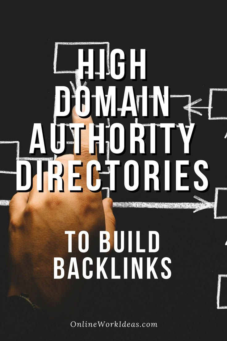 List of high domain authority directories to build website backlinks  to increase traffic rank to your website. Links from other official high quality website directories are needed to increase a website's significance to Google. If you have an acceptable quality website, they will enlist your website link. Some people use also these directories to find what they are looking which means a few extra visits. The submission to each directory will take just a few minutes.