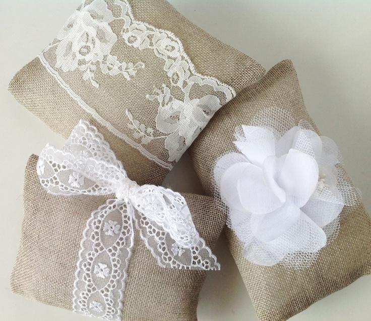 Burlap and lace lavender sachets