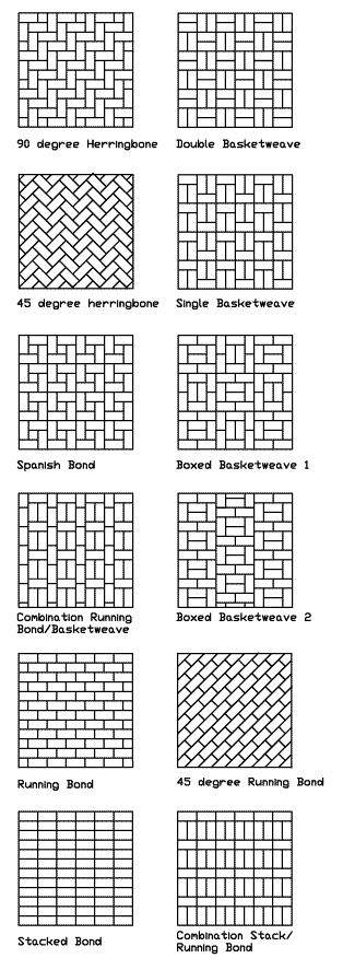 Standard 4 X 8 Paving Patterns