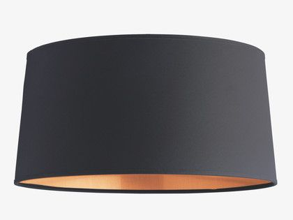 GRANDE BLACKS Fabric Black cotton small empire lampshade - Lamp Shades- HabitatUK
