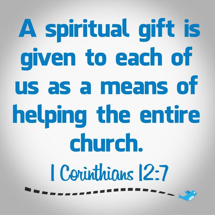 Bible Verse ~ 1 Corinthians 12:7 | Bible Verses ...