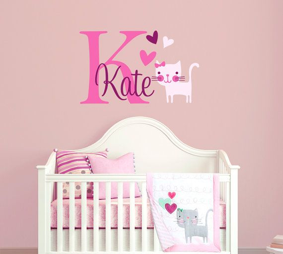 Best Kitten And Cat Themed Vinyl Wall Decals For Nurseries And - Vinyl decal cat pinterest