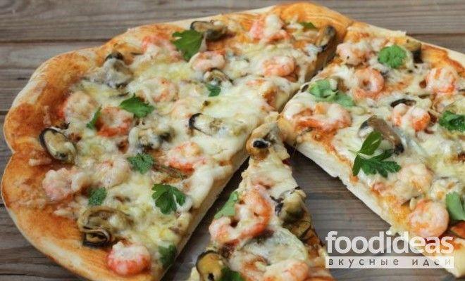 Пицца с морепродуктами - рецепт приготовления с фото   FOODideas.info