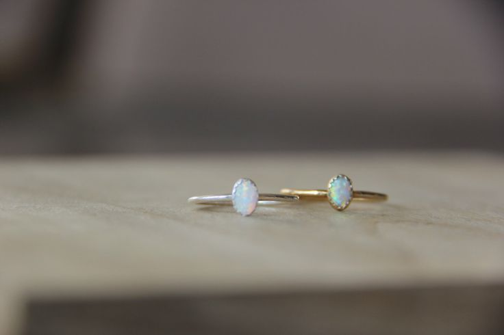 4x6mm Opal Ring by TheMakeryVA on Etsy https://www.etsy.com/listing/466419794/4x6mm-opal-ring