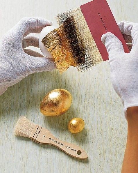 How to make a golden Easter egg