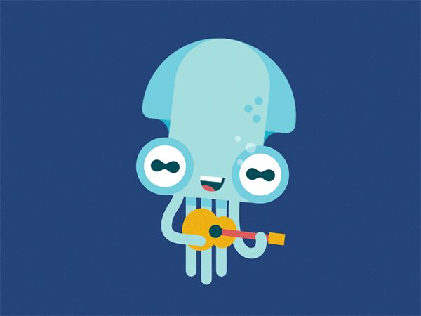 Octo animated gifs by Fede Cook, via Behance