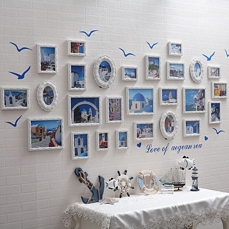 Find More Frame Information about 26pcs Baroque Mediterranean Style White Decorative Wall Photo Set Romantic Wedding Picture frames Direct Selling molduras,High Quality frame bead,China frame system Suppliers, Cheap framed fabric wall art from Handicraftsman on Aliexpress.com