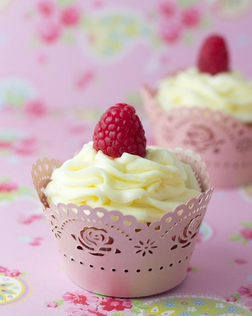 limone e lampone Cupcakes Peggy Porschen, adatto per 4 tortini
