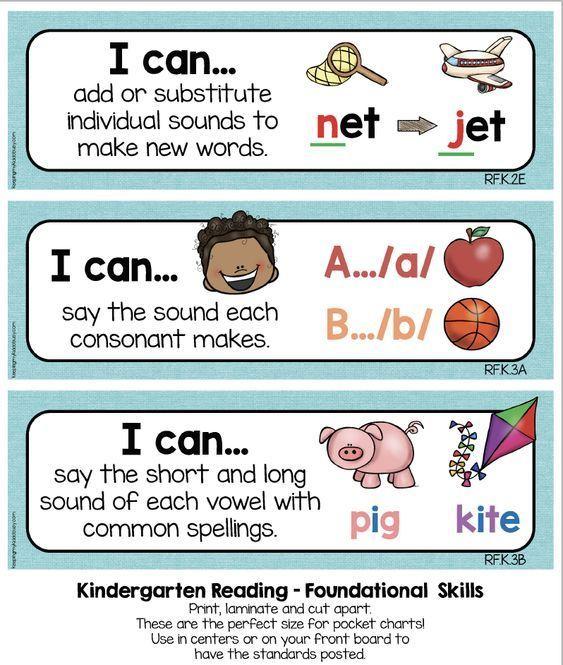 kindergarten standards i can statements freebies education rh pinterest com