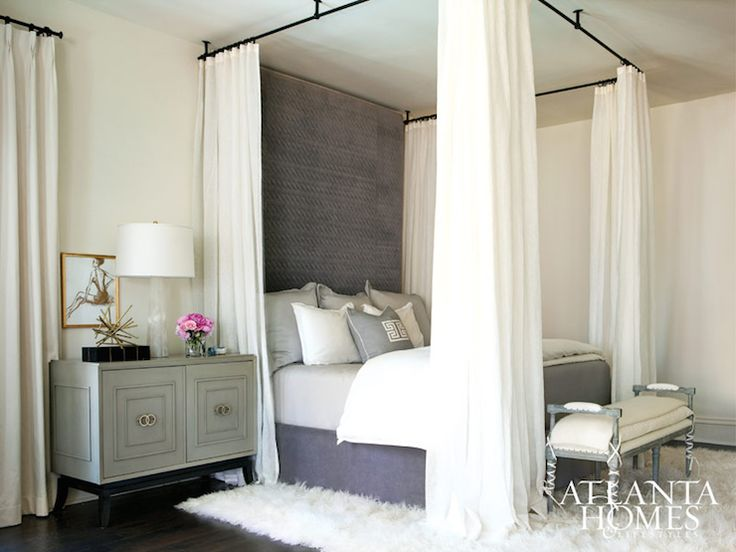 Atlanta Homes Lifestyles Bedrooms Ceiling Mount Four Poster Bed Ceiling Hung Four Poster