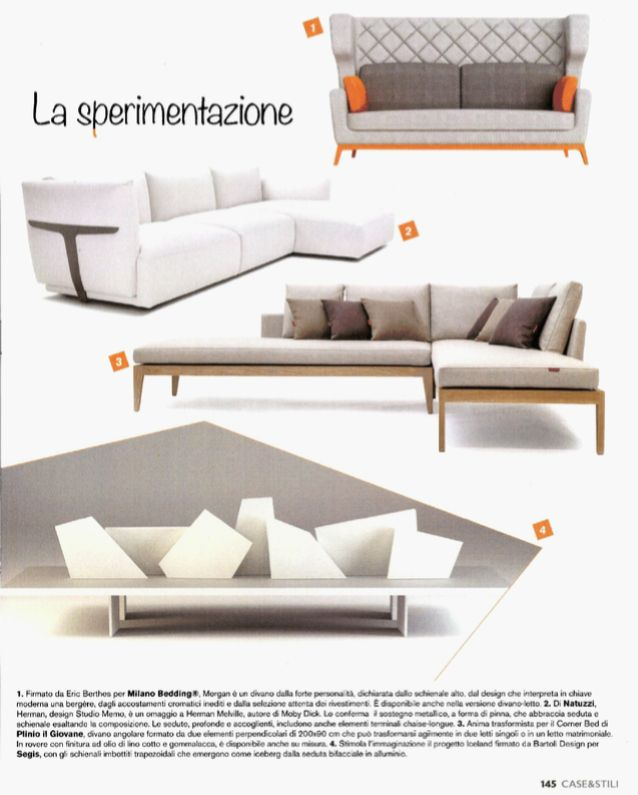 Case & Stili, #sofa and #sofabed Morgan design Eric Berthes