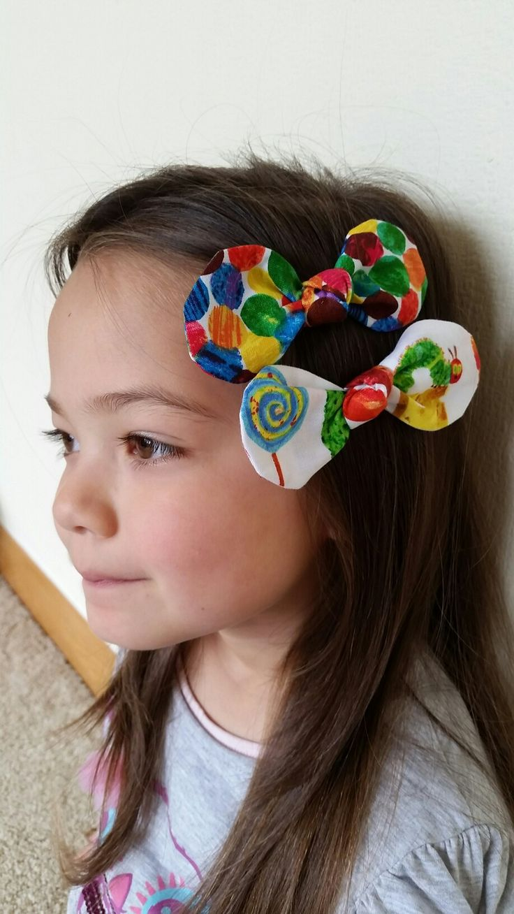 The Very Hungry Caterpillar Bow Hair Clips♡
