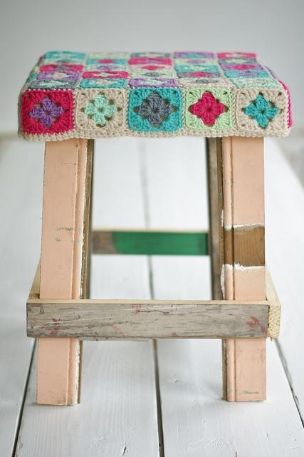 wood & wool stool laurence #2, via Flickr.