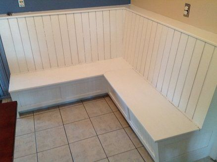 Diy corner dining bench with storage home furniture pinterest bench designs extra storage Corner kitchen bench