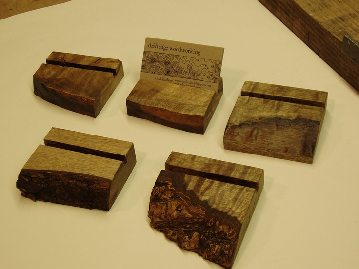 beautiful wood business card holders