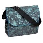 iFrogee Silk Brocade Nappy Bag - Teal & Silver