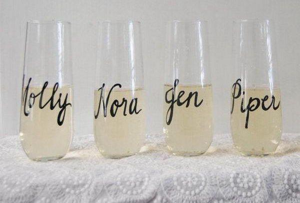 Stemless Champagne Flute - 20 Classy Bachelorette Party Ideas, http://hative.com/classy-bachelorette-party-ideas/,
