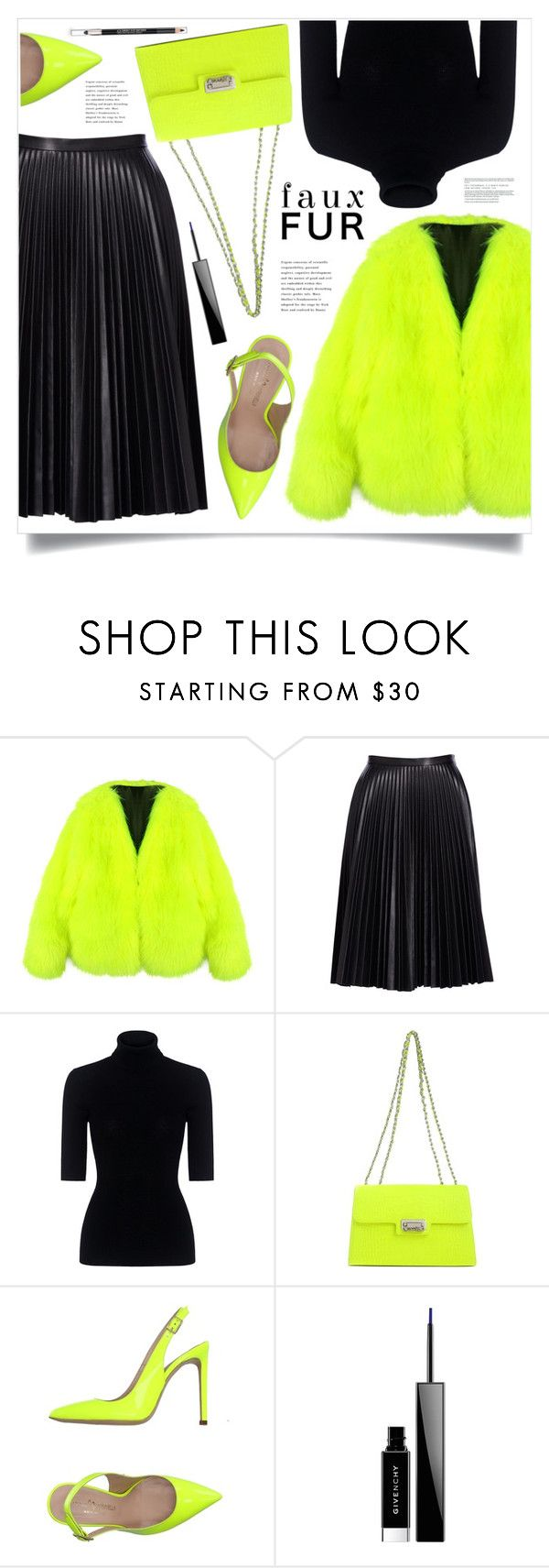 """""""Faux Fur Coats"""" by marina-volaric ❤ liked on Polyvore featuring Chicnova Fashion, Cusp by Neiman Marcus, Theory, Moschino, Marco Barbabella, Givenchy, The Body Shop and fauxfurcoats"""