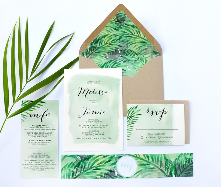 17 best images about i n v i t a t i o n s on pinterest for Tropical wedding invitations