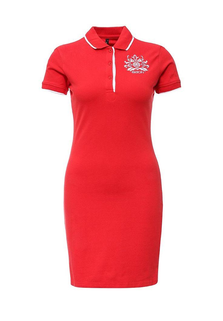Красное платье-футболка-поло Baon http://fas.st/K-H159