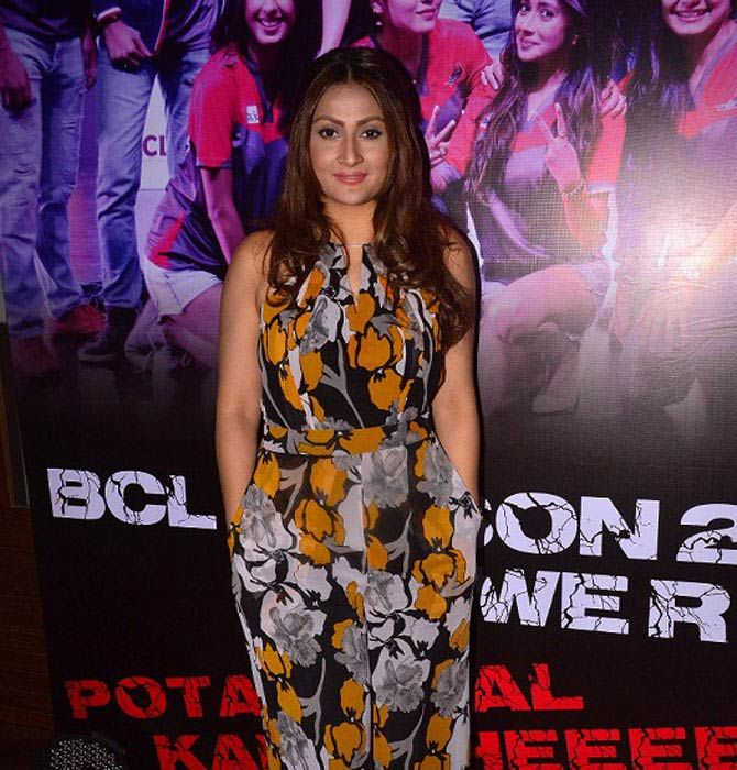 Urvashi Dholakia at the launch party of BCL team Ahmedabad Express. #Bollywood #Fashion #Style #Beauty #Hot