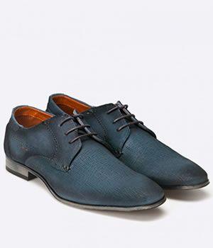 Pantofi Bugatti Barbati Piele Bleumarin