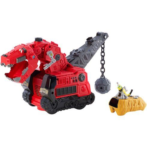 It's Dinotrux fun with best buddies Ty Rux and Revvit! Reptool Control Ty Rux is motorized and features easy-to-use remote control. Just push the button on the Revvit remote control for five dino-mite modes of play: Find Revvit mode allows you to point the Revvit remote control at Ty Rux as he follows you around; and also in Find Revvit mode, when you place the remote control within an eight-foot distance of Ty Rux, watch as he scans the area to find his buddy Revvit. Standard remote control…
