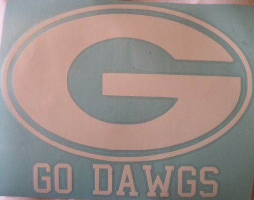 Car Or Truck Decal Georgia G GO DAWGS Window White In Other - Truck rear window decals   how to purchase and get a great value safely