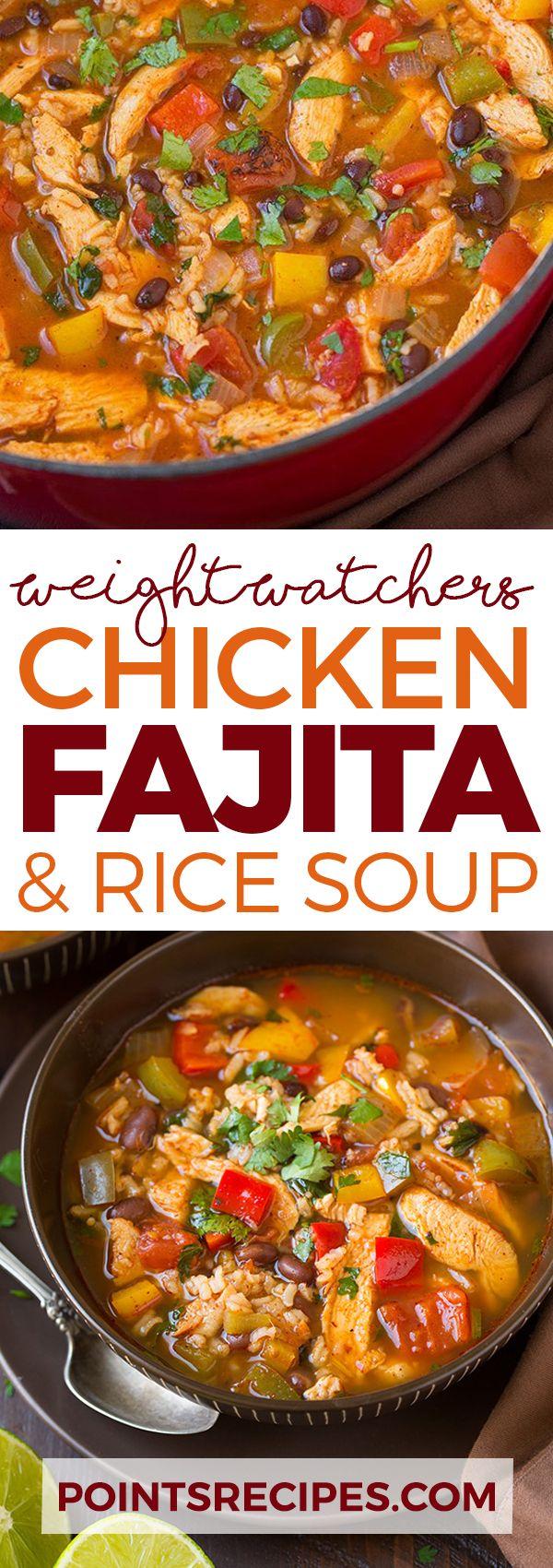 Chicken Fajita and Rice Soup - WEIGHT WATCHERS (Crockpot Recipes Weight Watchers)