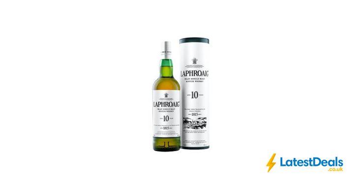 Laphroaig Single Malt Scotch Whisky 10 Years Old Save £10 Free C&C, £25 at ASDA