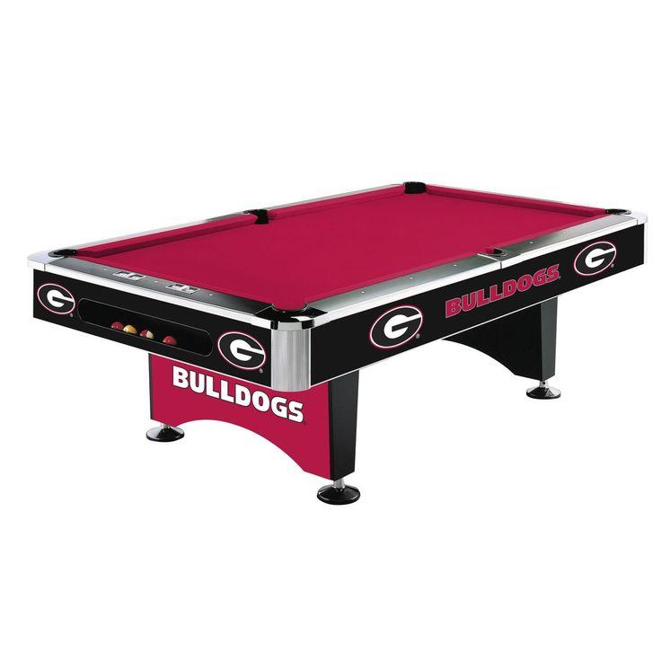 8Ft Pool Table - University Of Georgia Bulldogs
