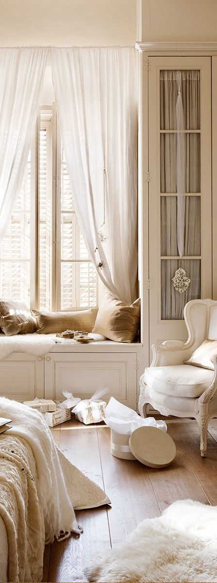Attractive French Country Decor, French Interior Design, French Bedroom With A Neutral  Color Scheme