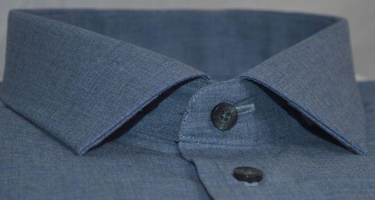 NEW DANIEL HECHTER BLUE 100% COTTON Mens Tailored Fit Shirts (4297)