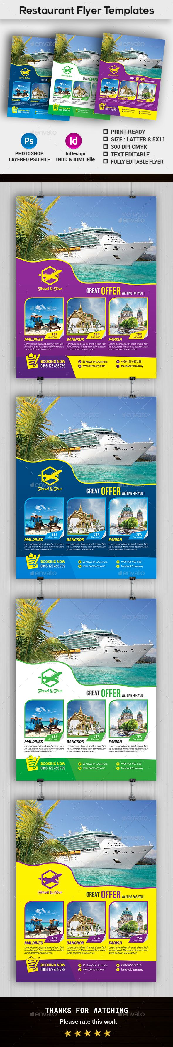 Travel Tours Flyer Templates - Holidays Events