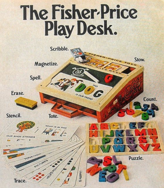 1972 Vintage Fisher Price Play Desk Toy Advertisement 1970s | Flickr - Photo Sharing!