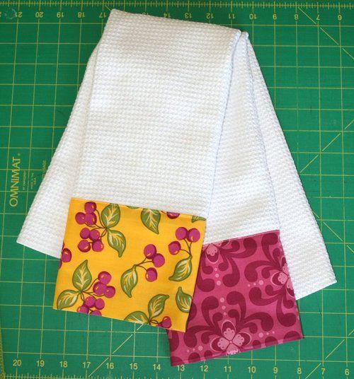 cute kitchen towel tutorial